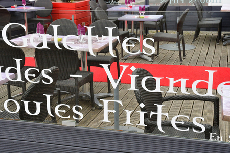 Saint Nazaire, France - april 4 2017 : restaurant in Saint Marc sur Mer