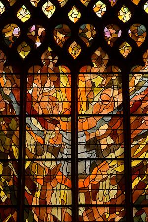 Vernon, France - july 27 2018 : the gothic collegiate church window Editorial