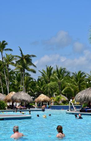 Punta Cana, Dominican Republic - june 3 2017 : pool in an hotel