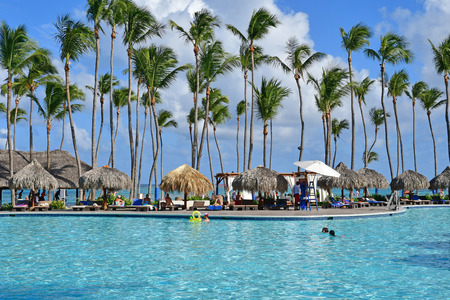 Punta Cana, Dominican Republic - may 28 2017 : pool in an hotel