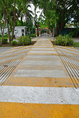 Playacar; United Mexican States - may 20 2018 : zebra crossing in the picturesque city