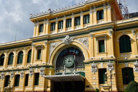 Ho Chi Minh City, Saigon, Socialist Republic of Vietnam - august 16 2018 : the post office built by the French Stock Photo - 110142308