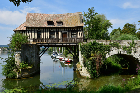 Vernon, France - july 27 2018 : the old mill
