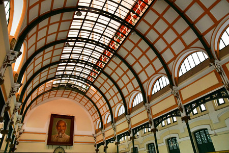 Ho Chi Minh City, Saigon, Socialist Republic of Vietnam - august 16 2018 : the post office built by the French Stock Photo - 110142599