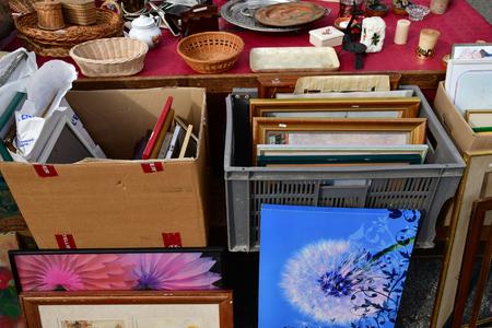 Chevreuse; France - september16 2018 : flea market