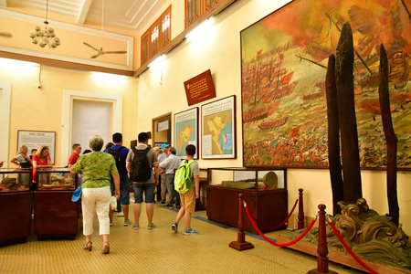 Ho Chi Minh City, Saigon, Socialist Republic of Vietnam - august 15 2018 : history museum of Vietnam