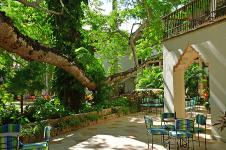Chichen Itza; United Mexican States - may 19 2018 : an hotel restaurant
