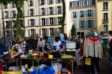 Versailles; France - june 10 2018 : the flea market Editorial