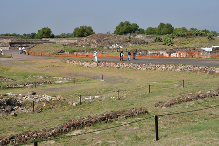 Teotihuacan;  United Mexican State - may 13 2018 : the pre Columbian site