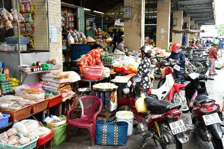 Sa Dec; Socialist Republic of Vietnam - august 18 2018 : the picturesque daily market