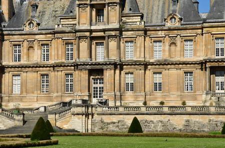 Maisons Laffitte; France - april 20 2018 : the classical castle Editorial
