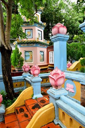 Chau Doc; Socialist Republic of Vietnam - august 19 2018 : the Tay An pagoda