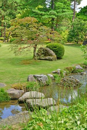 Kanazawa, Japan - august 2 2017 : the Kenroku En park Editorial