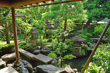 Kanazawa, Japan - august 3 2017 : the Nomura house in the Nagamachi samourai district Banque d'images - 119732247