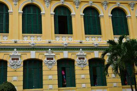 Ho Chi Minh City, Saigon, Socialist Republic of Vietnam - august 16 2018 : the post office built by the French Stock Photo - 119732609