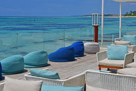 Punta Cana, Dominican Republic - june 3 2017 : seaside restaurant