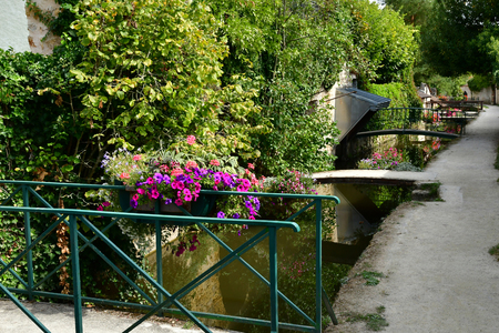 Chevreuse; France - september16 2018 : the picturesque city in summer