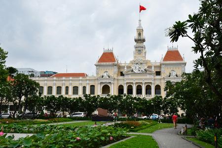Ho Chi Minh City, Saigon, Socialist Republic of Vietnam - august 15 2018 : town hall
