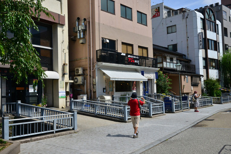 Kanazawa, Japan - august 1 2017 : the city near the Nagamachi samourai district Banque d'images - 121482946