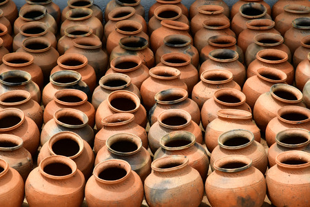 Kampong Chhnang; Kingdom of Cambodia - august 21 2018 : pottery workshop in the picturesque village Editorial