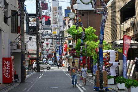 Osaka, Japan - august 5 2017 : the Amerika Mura district