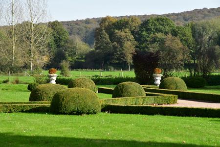 Vascoeuil, France - november 1 2017 : the castle park