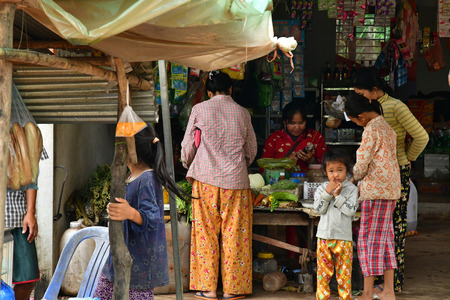 Kampong Chhnang; Kingdom of Cambodia - august 21 2018 : shop in the picturesque village