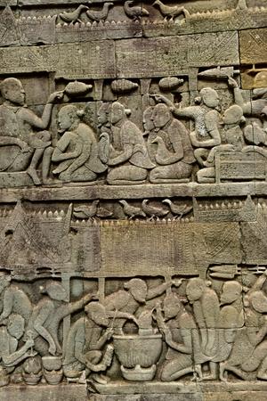 Siem Reap; Kingdom of Cambodia - august 24 2018 : the Angkor Bayon temple Redakční