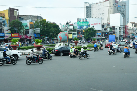 Ho Chi Minh City, Saigon, Socialist Republic of Vietnam - august 16 2018 : the picturesque city in summer