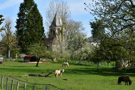 Aincourt; France - april 17 2018 : landscape