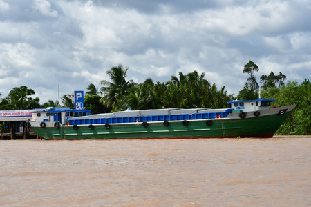 My Tho, Socialist Republic of Vietnam - august 17 2018 : the Thoi Son island