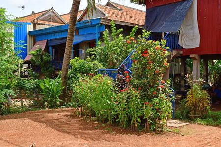 Koh Chen; Kingdom of Cambodia - august 21 2018 : the picturesque village Redakční