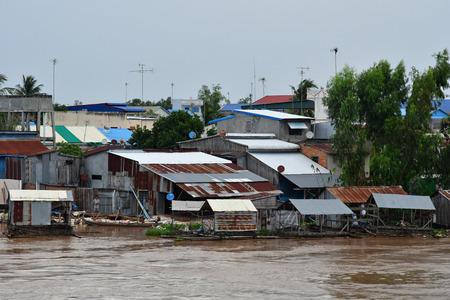 Kingdom of Cambodia - august 19 2018 : cruise on Mekong river near Phnom Penh