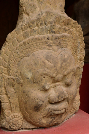 Phnom Penh; Kingdom of Cambodia - august 20 2018 : the National Museum of Cambodia, collection of Khmer art Editorial