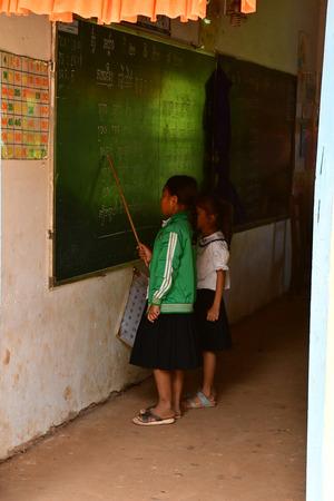 Koh Chen; Kingdom of Cambodia - august 21 2018 : the primary school