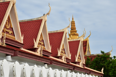 Phnom Penh; Kingdom of Cambodia - august 20 2018 : the Royal Palace Editorial