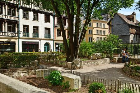Rouen, France - september 9 2018 : house in the historical city Stok Fotoğraf