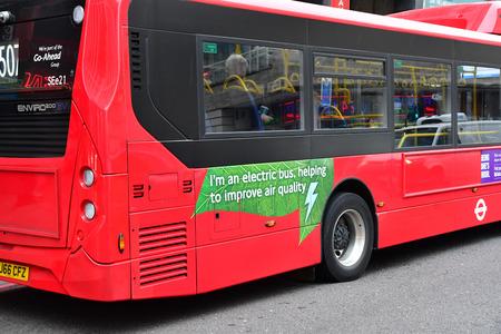 London, England - december 23 2017 : an electric bus