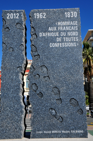Nice, France - april 19 2016 : the memorial of north africa french