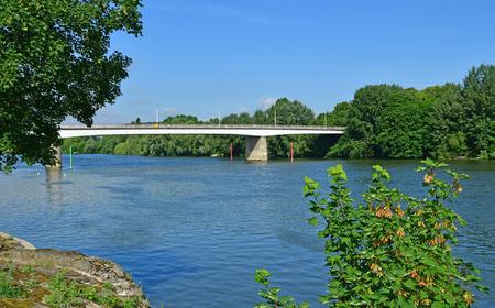 Les Mureaux; France - may 8 2018 : seine riverside
