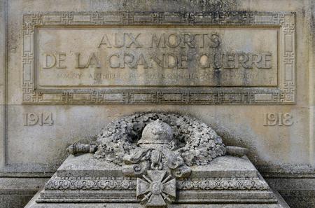 Magny en Vexin, France - march 14 2016 : the war memorial