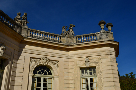 Versailles; France - october 14 2018 : Pavillon Francais in the park of Petit Trianon in the Marie Antoinette estate