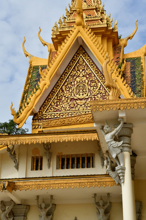 Phnom Penh; Kingdom of Cambodia - august 20 2018 : the Royal Palace 写真素材