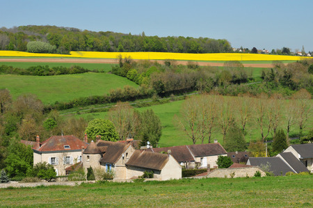 Montalet le Bois; France - may 27 2018 : the picturesque village