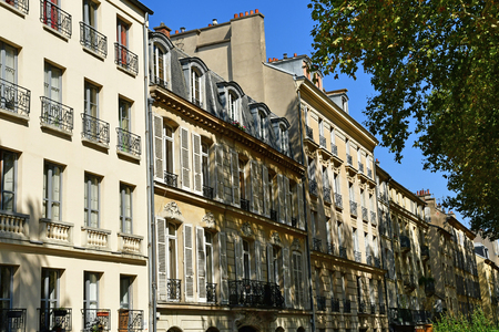 Versailles, France - september 2 2018 : the Notre Dame district near the castle Stok Fotoğraf