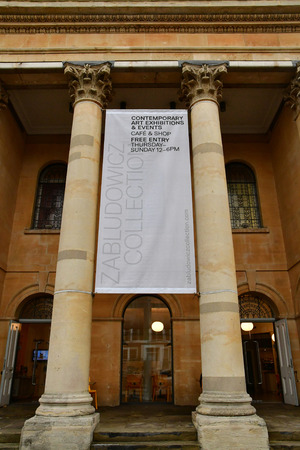 London, England - march 11 2018 : the Zabludowicz collection in the picturesque Camden district Stok Fotoğraf