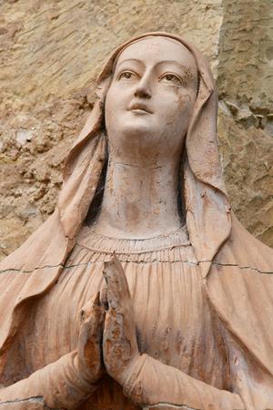 Carmel, USA - july 14 2016 : the Spanish catholic mission Banco de Imagens