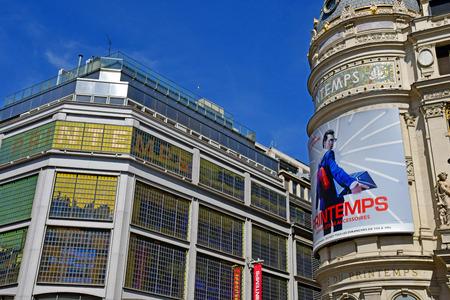 Paris; France - august2 2018 : the famous department store, Le Printemps Stok Fotoğraf