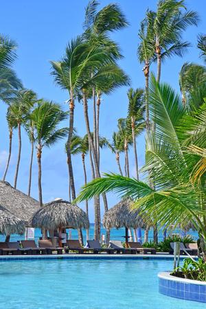 Punta Cana, Dominikanische Republik - 29. Mai 2017: Tourismus-Hotelpool