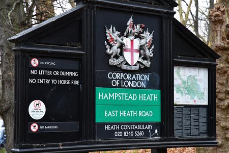 London, England - december 23 2017 : Hampstead park Redakční